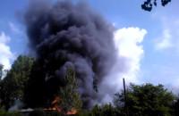 Pożar na południu Gdańska