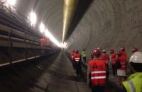 Wnętrze tunelu pod Martwą Wisłą