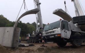 Budowa pierwszego wiaduktu Kolei Metropolitalnej