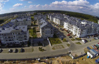 Okiem żurawia: okolice ul. Myśliwskiej