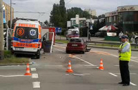 Wypadek w Gdyni przy zjeździe z Obwodnicy