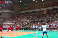 Występ cheerleaderek Polska-Francja