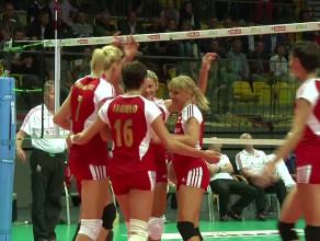 Mecz siatkówki Złotka - reprezentacja Polski