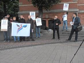 Protest przeciwko podwyżce podatku od nieruchomości