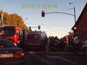 Wypadek na ul. Jabłoniowej w Gdańsku