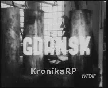 Fragment Polskiej Kroniki Filmowej z1947 roku prezentującej pracę fabryki zapałek wGdańsku. Materiał jest własnością WFDiF Warszawa.