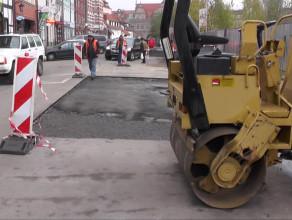 Odkryty bruk na ul. Stągiewnej w Gdańsku