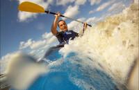 Sobieszewo - surfing na kajaku