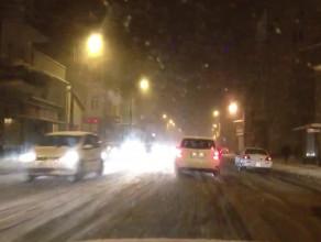 Zima na drogach w Sopocie