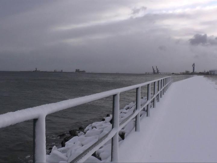 Sytuacja pogodowa na Zatoce Gdańskiej. Film wykonany rano, gdy była ona lepsza niż obecnie.