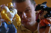 Kolekcja figurek amerykańskich bohaterów