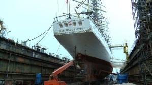 Dar Młodzieży w gdańskiej stoczni Remontowa