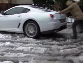 Zima zaskoczyła Ferrari