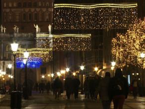 Iluminacje świąteczne na ulicach Trójmiasta