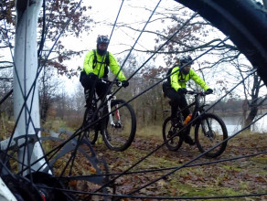 Przeprawa rowerowa po Szlaku Bursztynowym