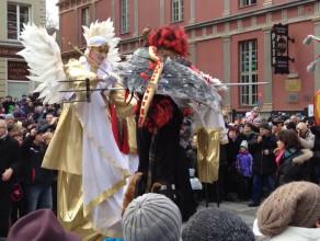 Orszak Trzech Króli w Gdańsku - Walka aniołów i diabłów