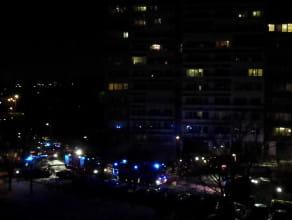 Pożar w bloku 11 na ulicy J. Meissnera w Gdańsku