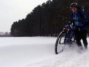 Zimowy biwak rowerowy