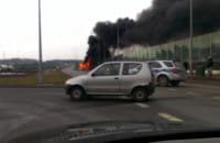 Spłonął autobus na Karczemkach