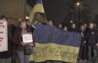 Protest przeciwko rozlewowi krwi na Ukrainie