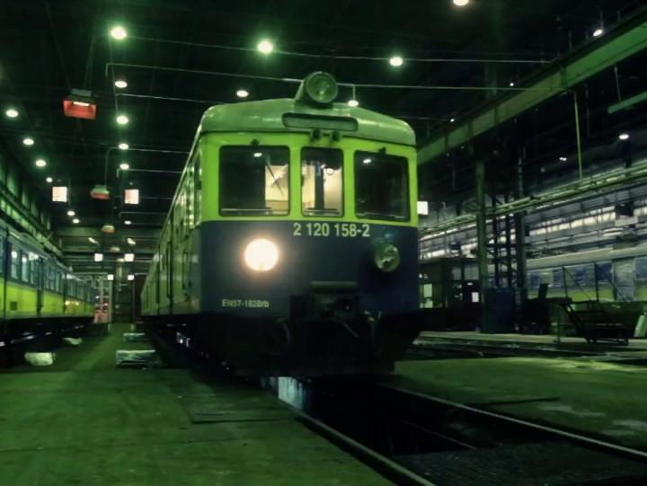 Noc welektrowozowni spółki SKM na Cisowej.