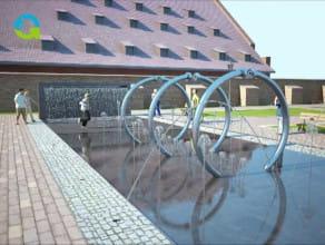 Fontanna przy Wielkim Młynie w Gdańsku