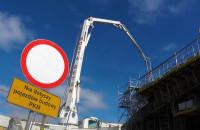 24-godzinne betonowanie wiaduktu PKM nad ul. Słowackiego