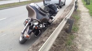 Wypadek motocyklisty na Rudnikach