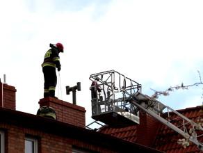 Zapalenie sadzy w kominie budynku przy Placu Komorowskiego w Gdańsku