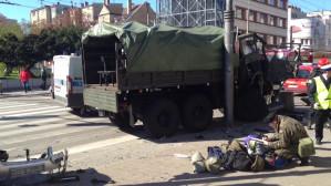 Wypadek wojskowej ciężarówki