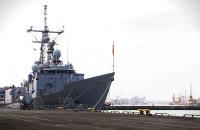 Turecki okręt wojenny w gdyńskim porcie