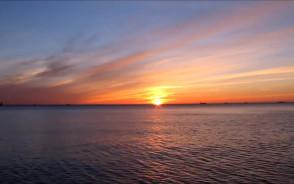 Wschód słońca nad Półwyspem Helskim