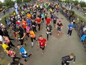 Bieg Europejski Gdynia 2014 start 10 km - widok z lotu ptaka