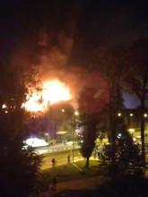Pożar w budynku dawnych koszar