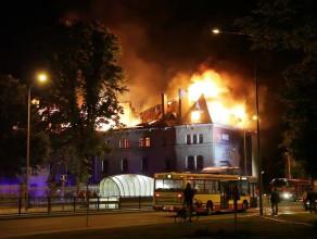 Pożar koszar przy ul. Słowackiego