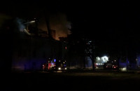 Nocny pożar koszar