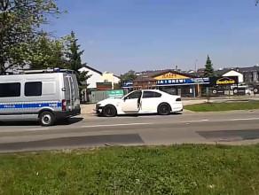 Wypadek BMW 7 na Kartuskiej