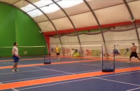 Trening gry w badminton