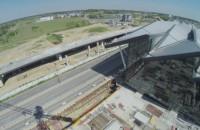 Okiem żurawia: lotniskowy terminal i estakada PKM