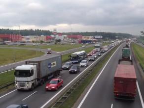 Korek na obwodnicy po wypadku w Gdyni