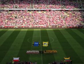 Hymn przed meczem Polska - Litwa
