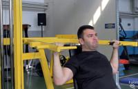 Mistrz Polski w wyciskaniu sztangi niepełnosprawnych - trening