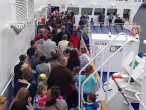 Tłumy na promie - dzień otwarty Stena Line 2014