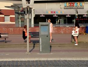 Urządzenie informacji pasażerskiej przy Podwalu Grodzkim w Gdańsku