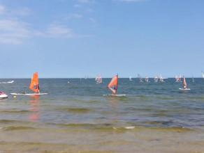 Lato w Sopocie nad zatoką