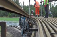 Transport szyn na budowę PKM