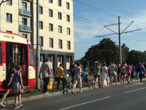 Paraliż komunikacyjny w centrum Gdańska