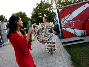 Fleszmob flamenco meleksem na Monciak - przygotowania