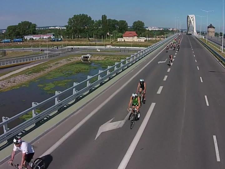 Tak wyglądał trasa gdańskiego triathlonu zlotu ptaka.