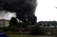 filmik z pożaru na Narwickiej